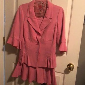 Pink skirt and jacket